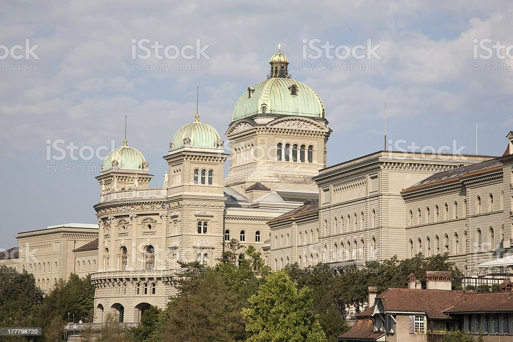Swiss Federal Assembly Parliament, Bern royalty-free stock photo