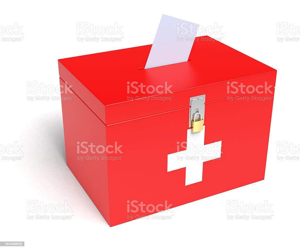 Schweizer Flagge Wahlurne – Foto