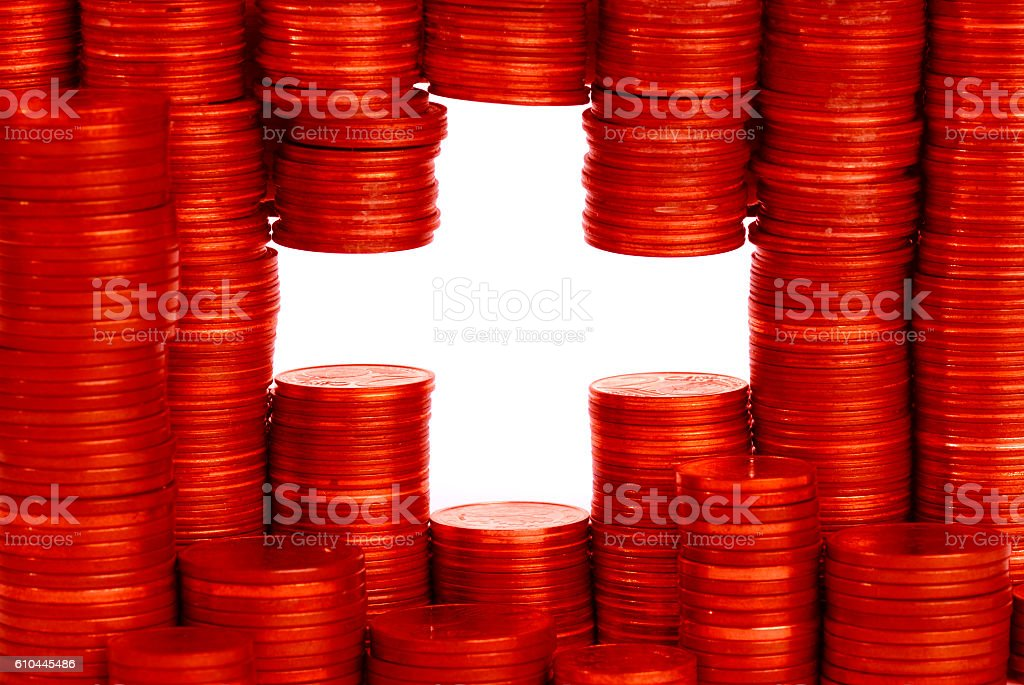 Schweizer Flagge stock photo