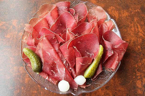 swiss food : dried meat stock photo