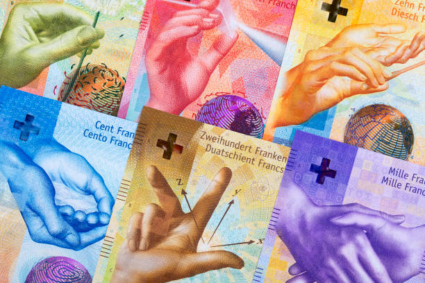 Schweizer Franken, ein geschäftlicher Hintergrund – Foto