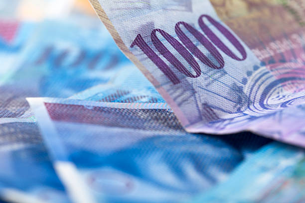 Swiss Francs Close-Up stock photo