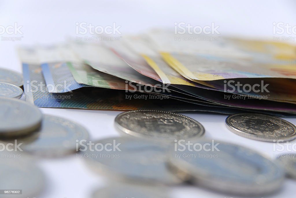 Swiss francs currency royalty-free stock photo