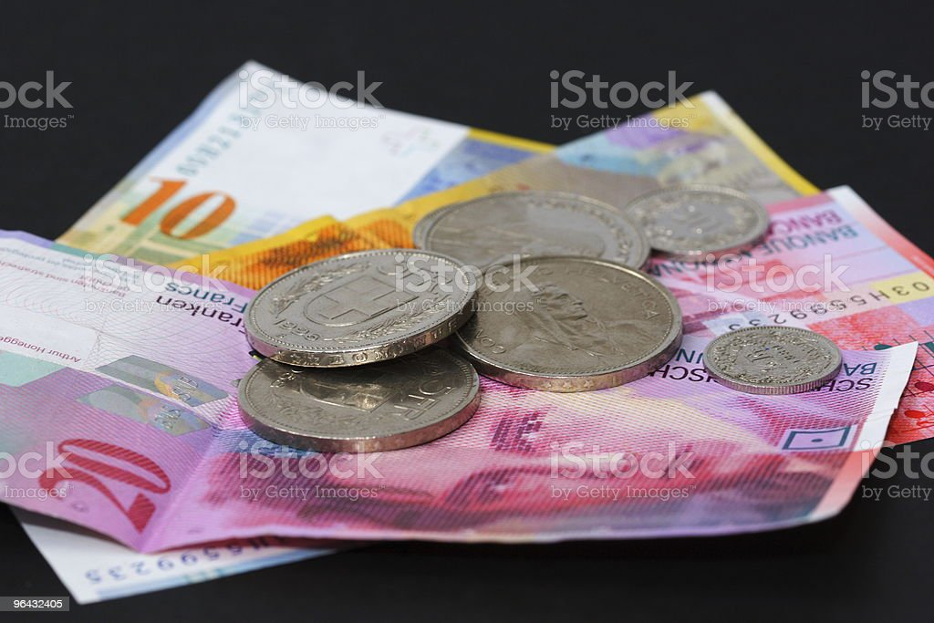 Swiss Francs III royalty-free stock photo