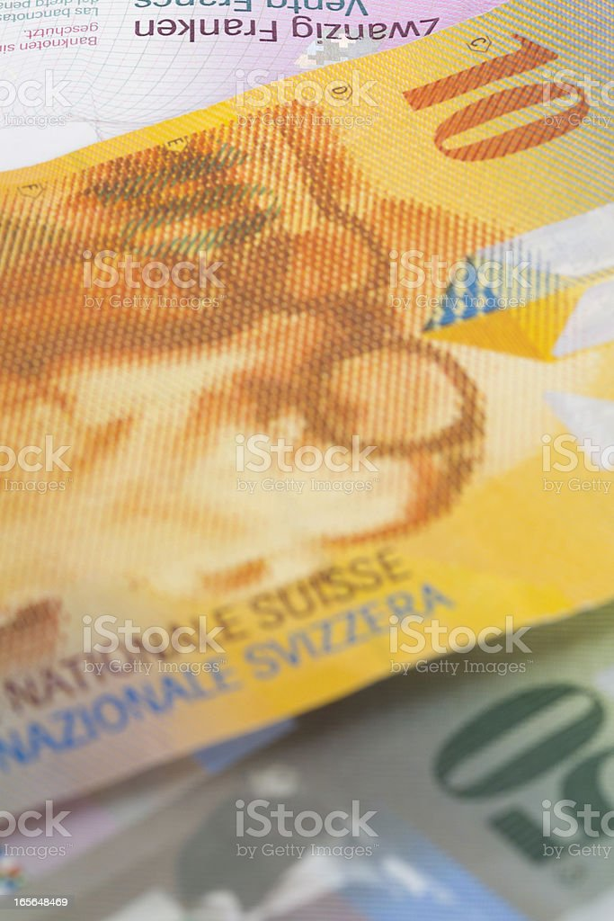swiss francs royalty-free stock photo