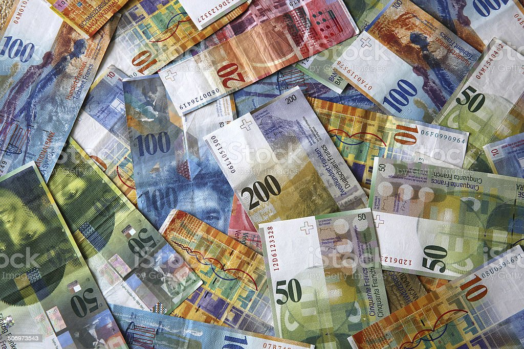 Swiss Francs stock photo