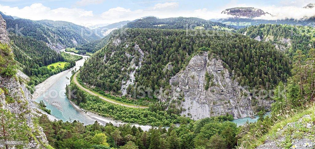 Swiss Grand Canyon. stock photo