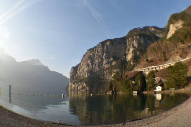 Swiss Highway through the Fisheye stock photo