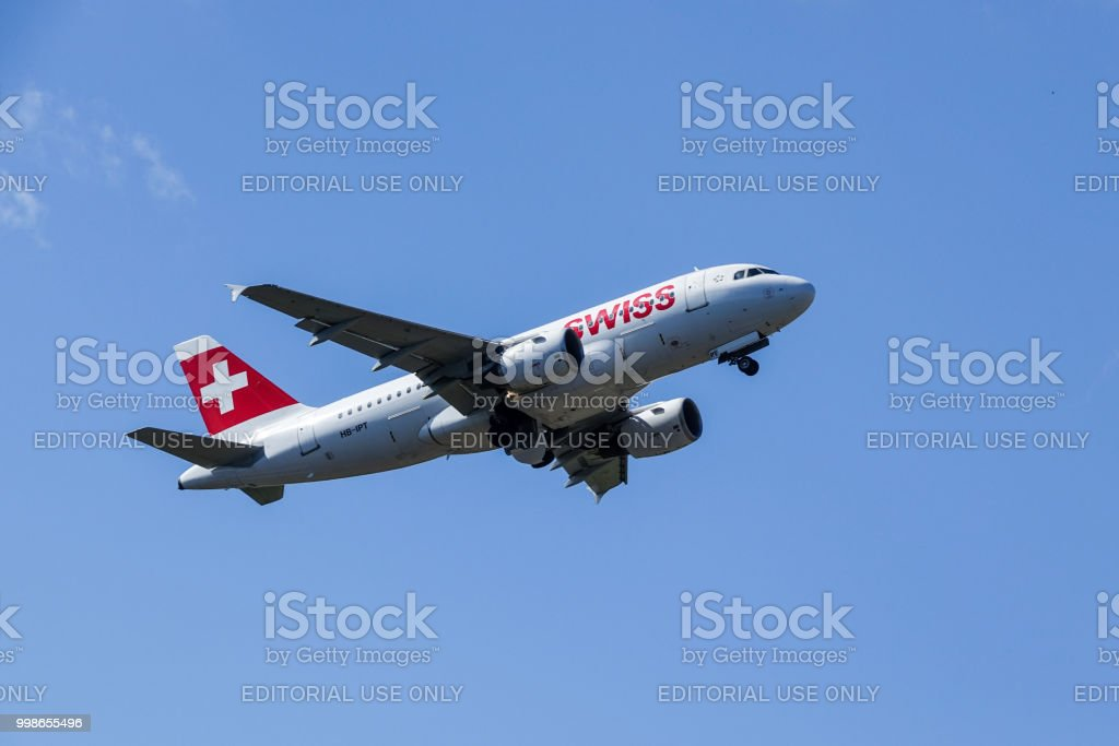 Swiss International Air Lines Airbus A319 112 Take Off Stock Photo