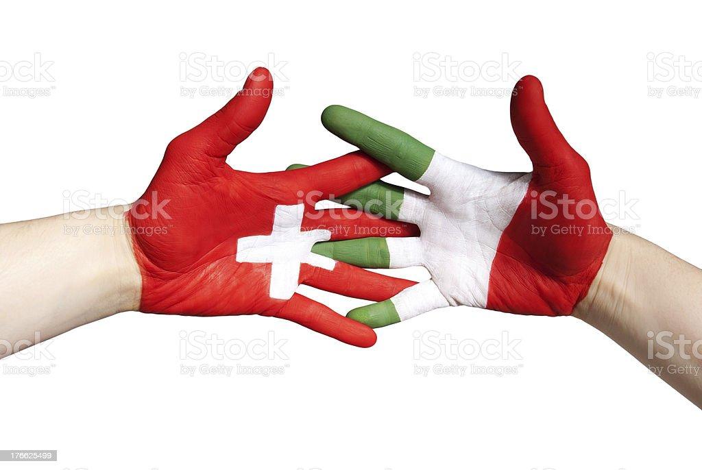 swiss italian partnership royalty-free stock photo