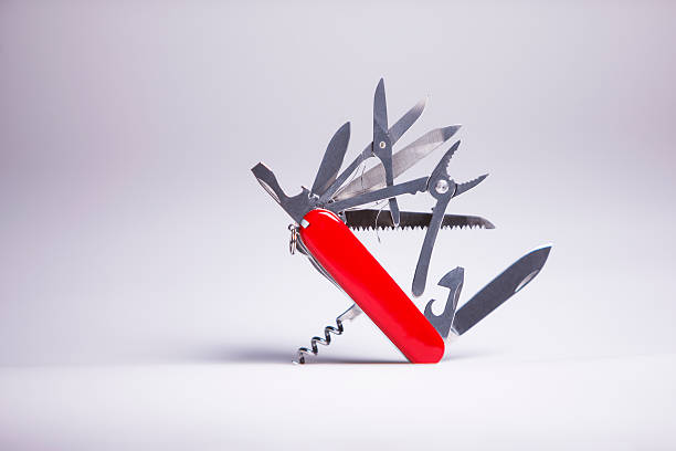 Swiss Knife 2 stock photo