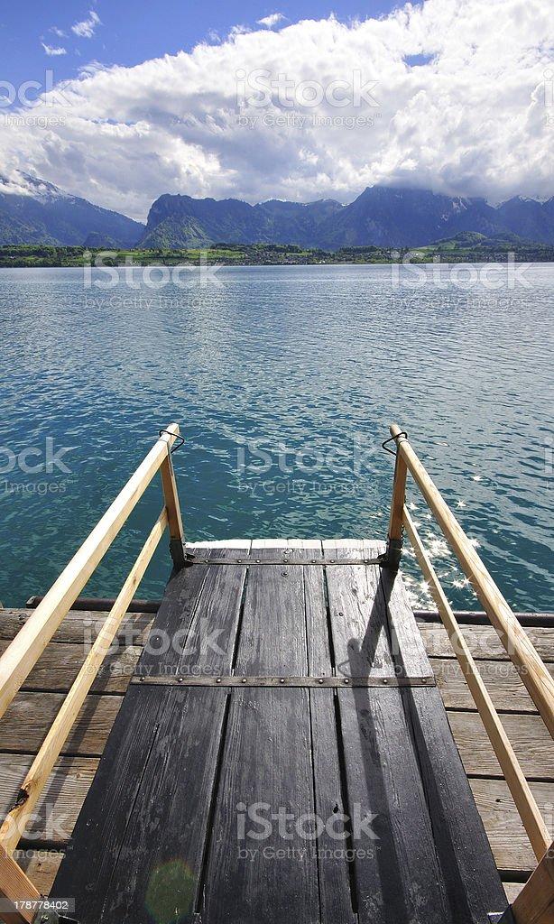 Swiss lake landscape stock photo