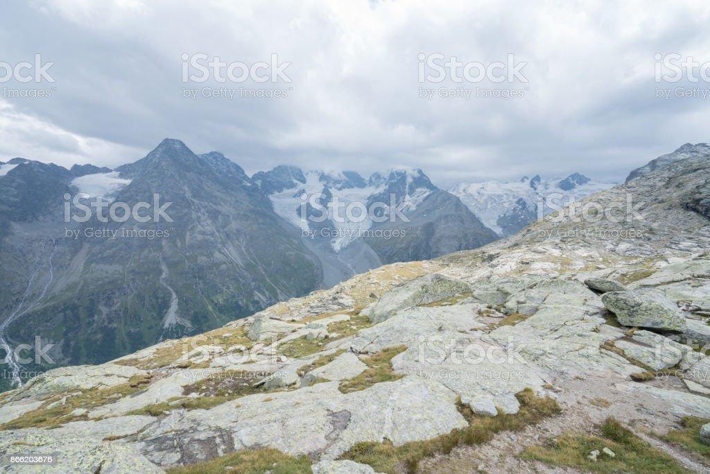 Swiss landscape, Corvatch, Switzerland stock photo