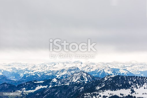 Swiss landscape with Alps