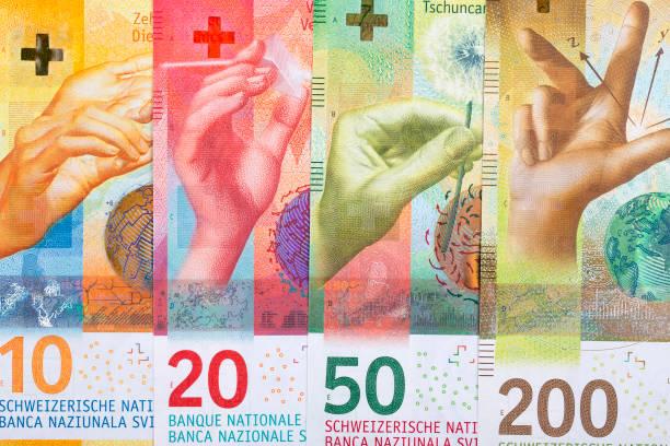 zwitserse geld, een achtergrond - franken stockfoto's en -beelden