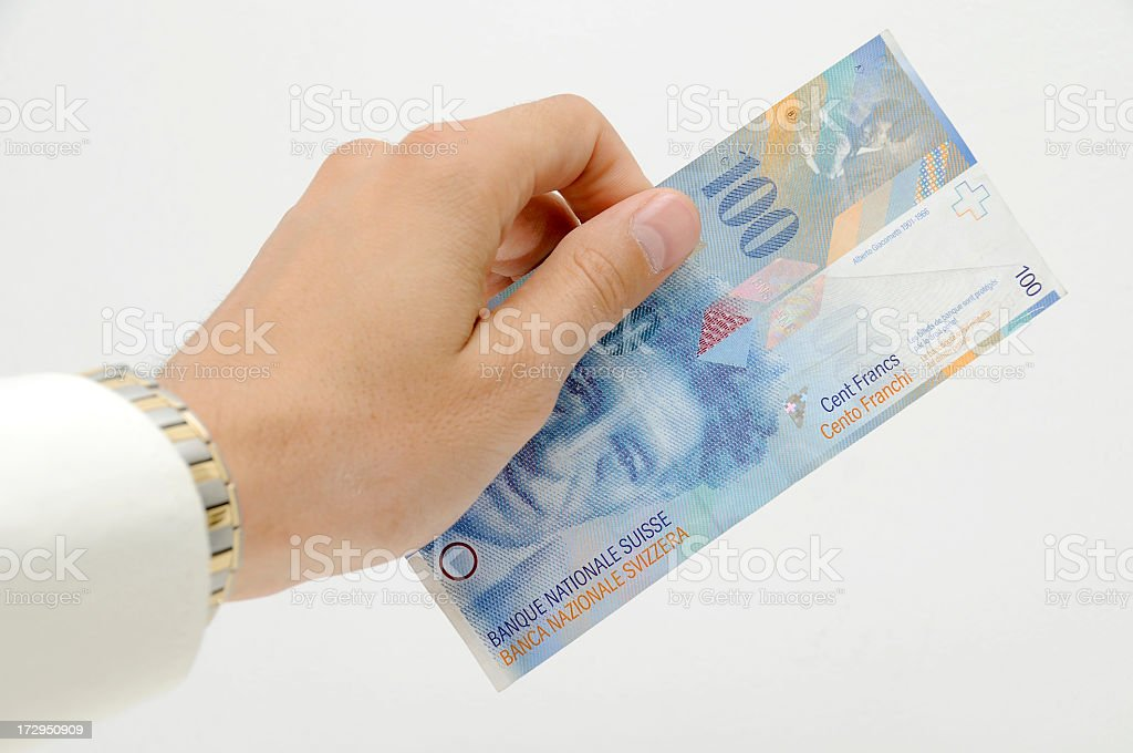 Swiss money royalty-free stock photo