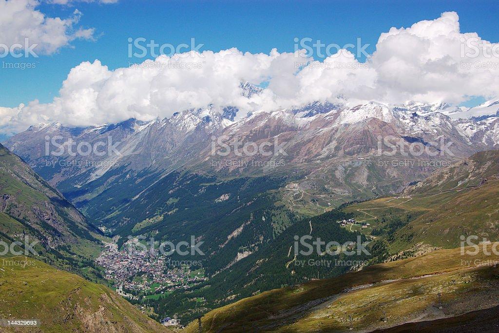 swiss mountain landscape royalty-free stock photo