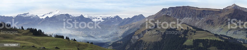 Swiss Mountain Panorama stock photo
