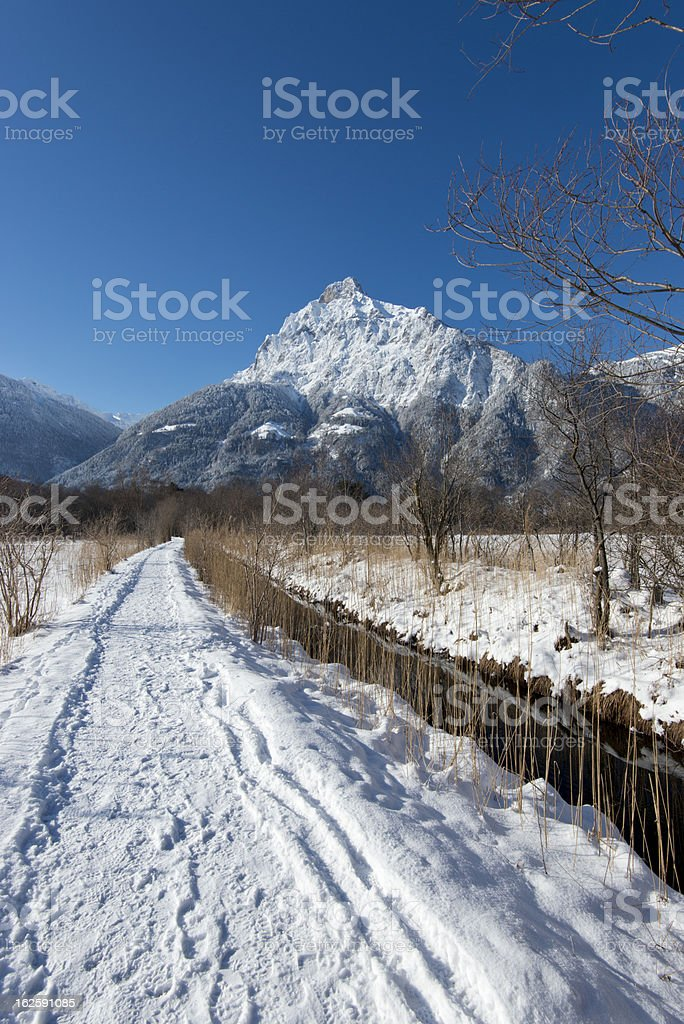 Swiss Mountain stock photo