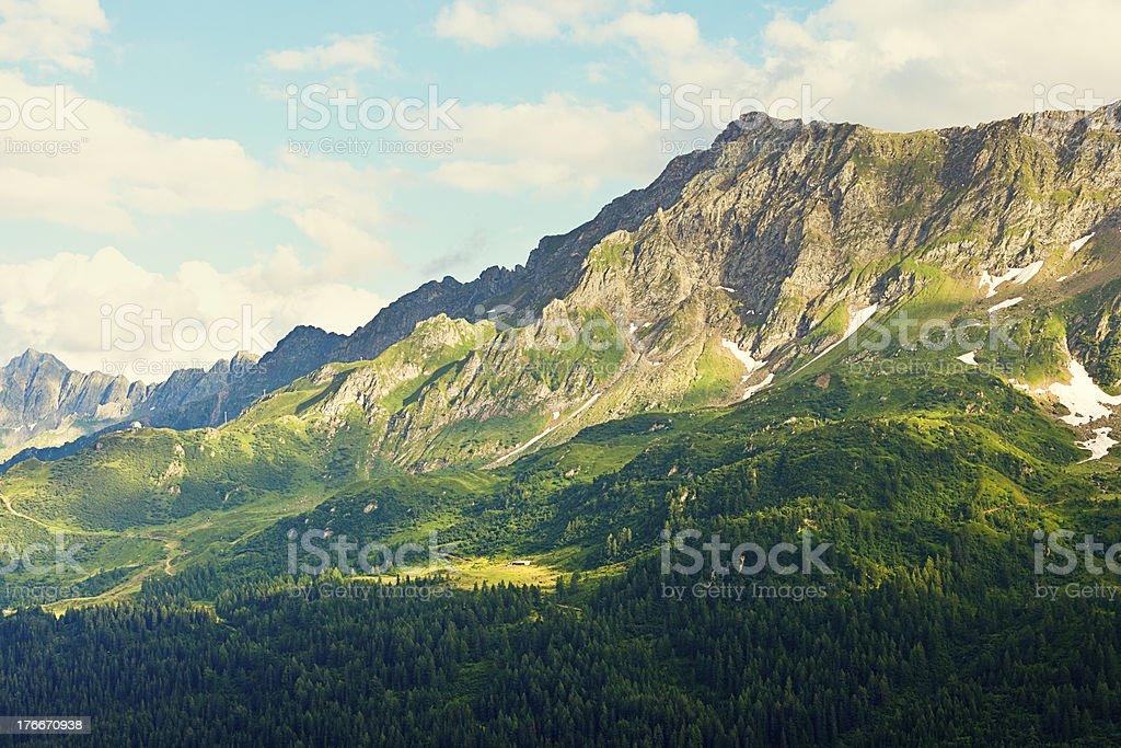 swiss mountain range royalty-free stock photo