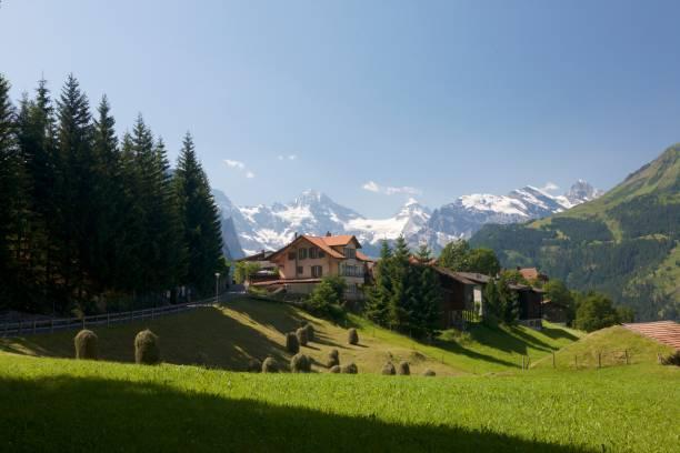 swiss mountain valley - hotel bern stock-fotos und bilder