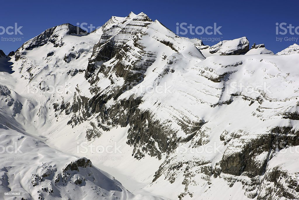 Swiss mountains in Winter royalty-free stock photo