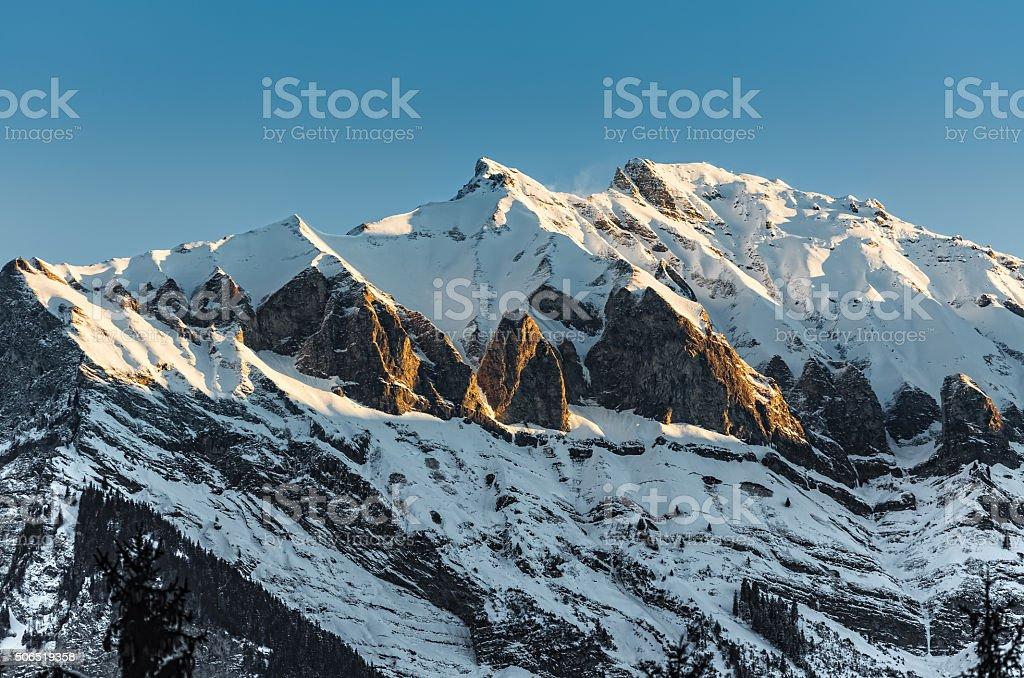 Swiss mountains stock photo