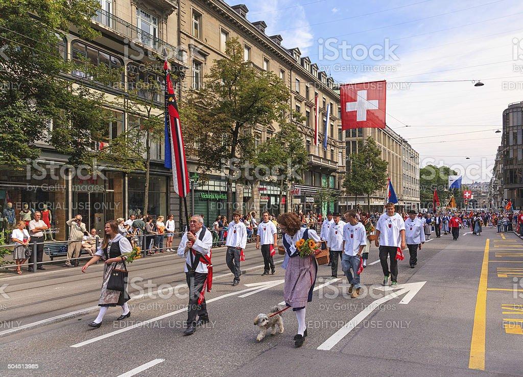 Schweizer National Day parade in Zürich – Foto