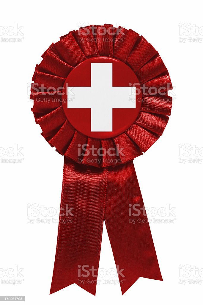 Swiss or First aid ribbon royalty-free stock photo