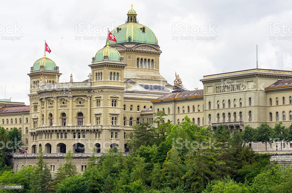Swiss Parliament. Bern, Switzerland stock photo