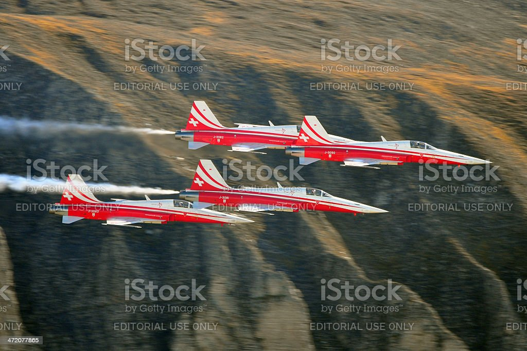 Patrouille Suisse stock photo