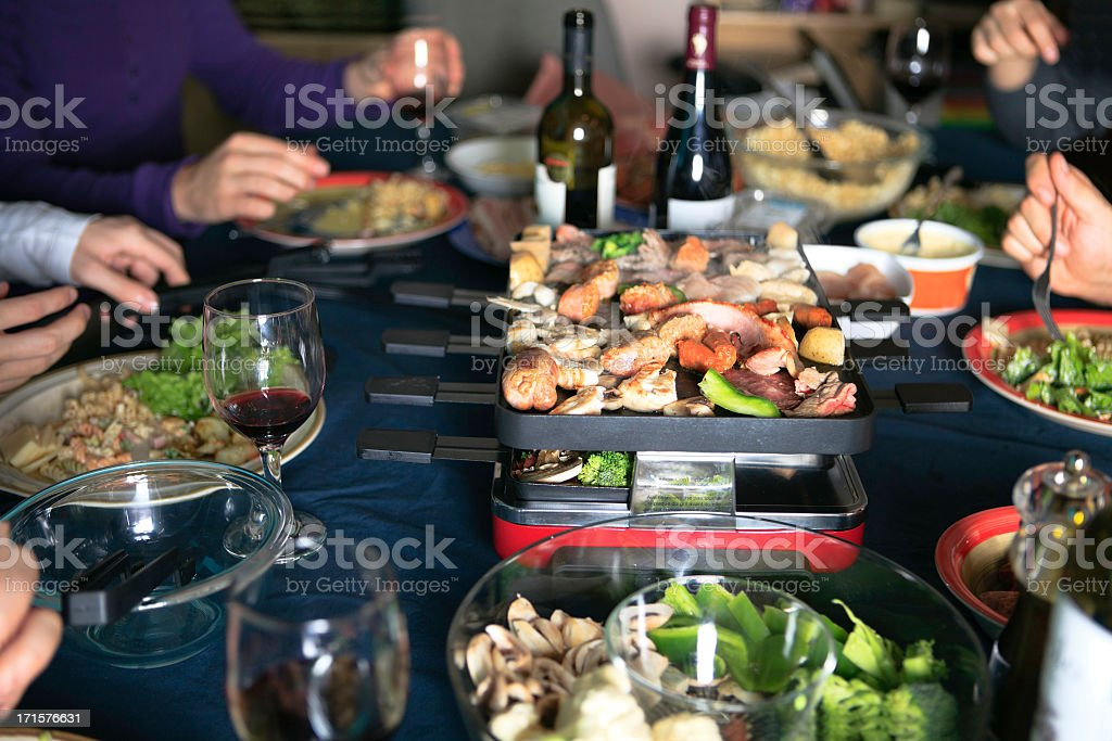 Swiss Raclette Culture stock photo