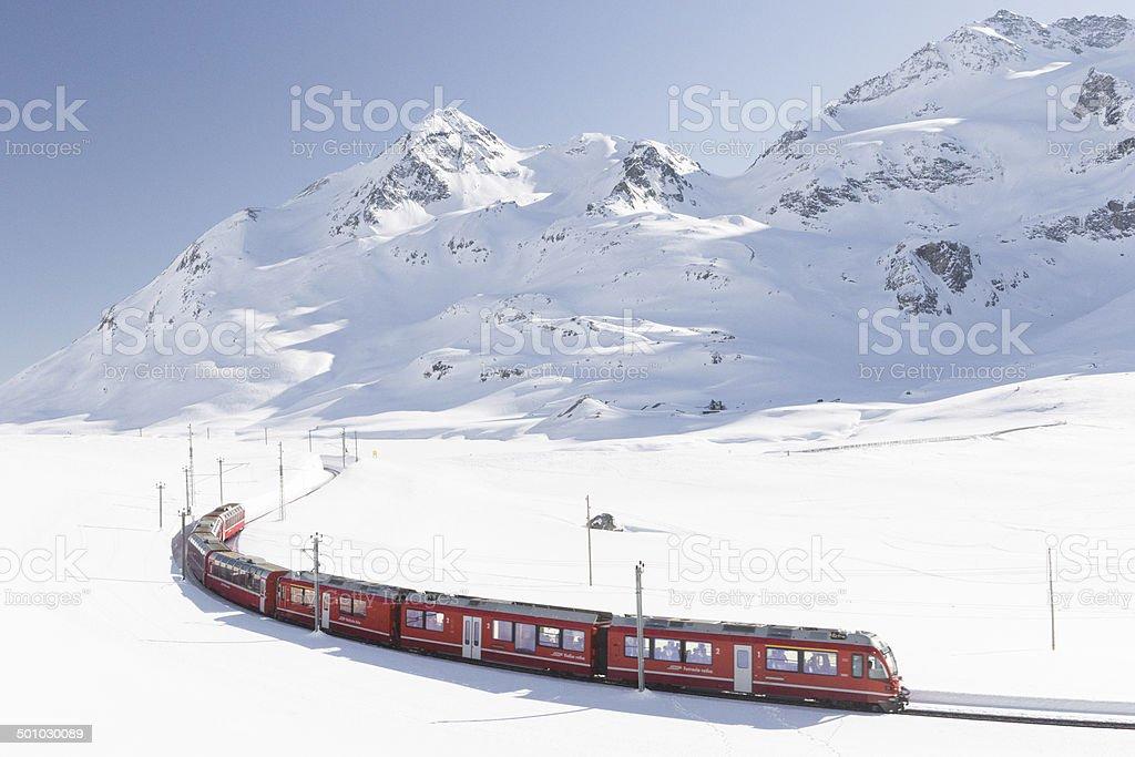 Schweizer railway Lizenzfreies stock-foto