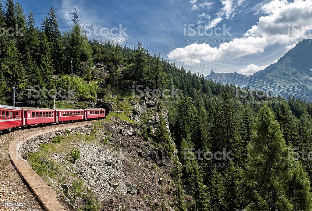 Swiss railways stock photo