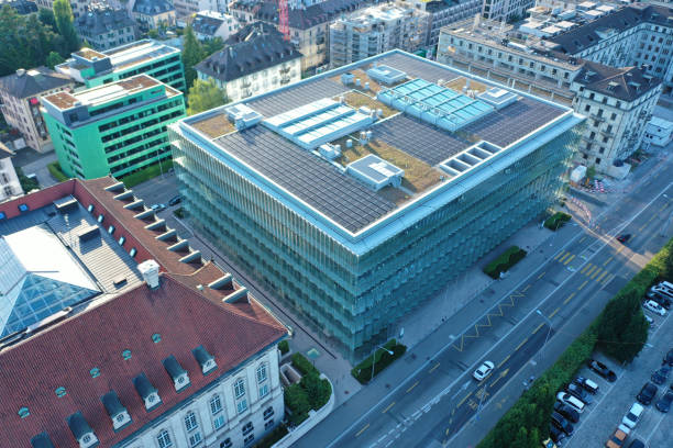 Swiss Re - headquarters stock photo
