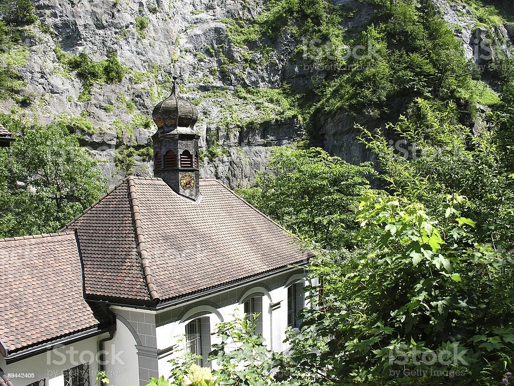 Swiss Red Roof royalty-free stock photo