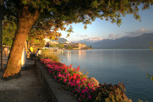 Swiss riviera at Montreux