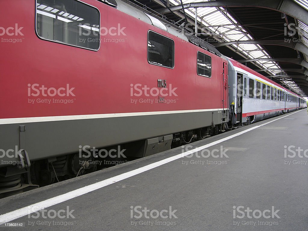 Swiss SBB train waiting for departure in main station royalty-free stock photo