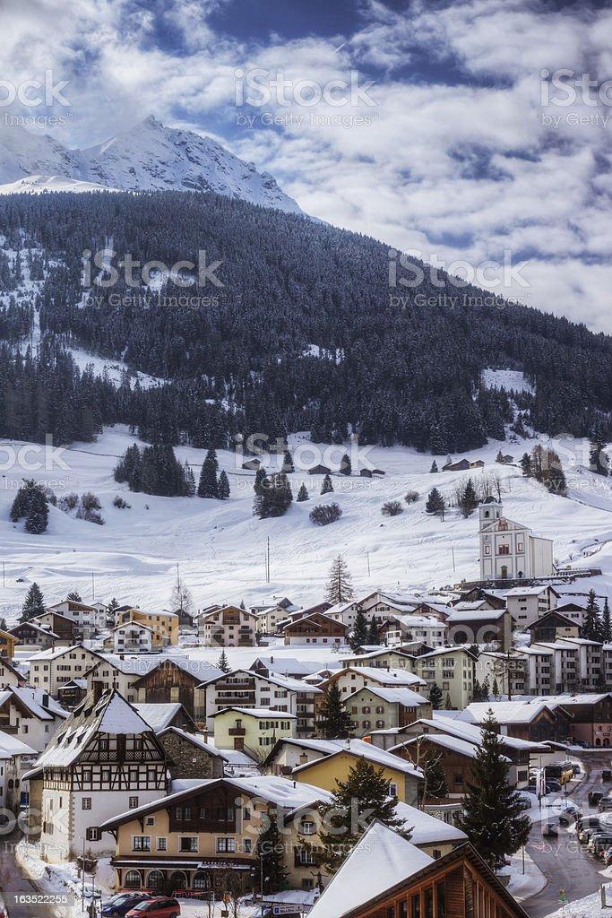 Swiss Ski Resort royalty-free stock photo