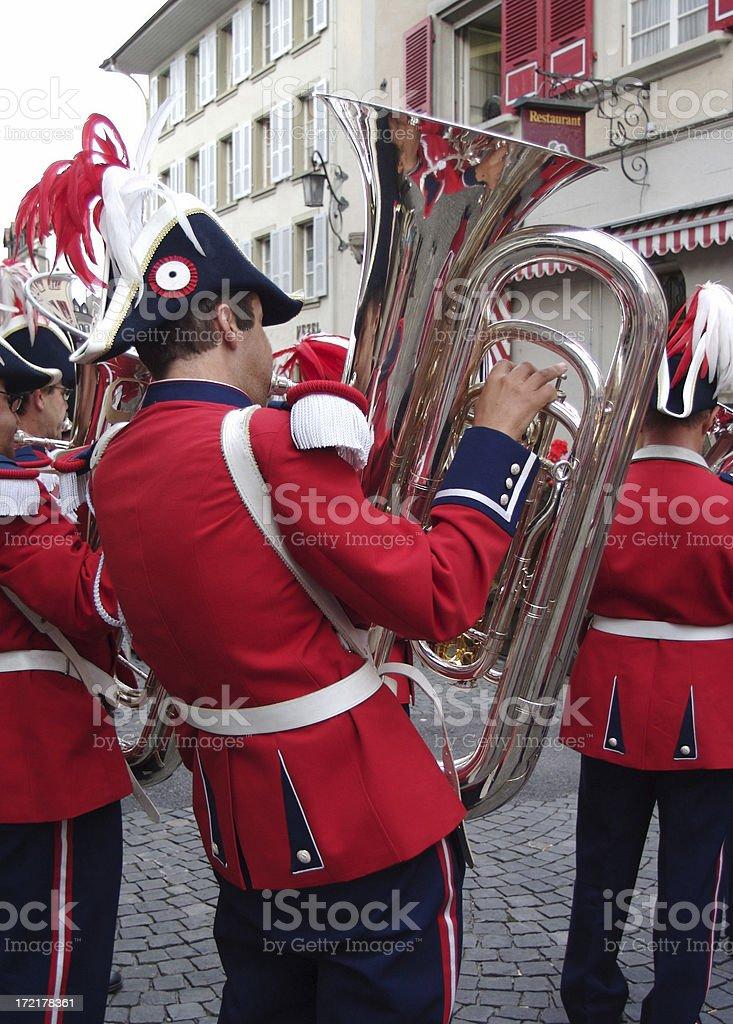 Swiss Street Band royalty-free stock photo