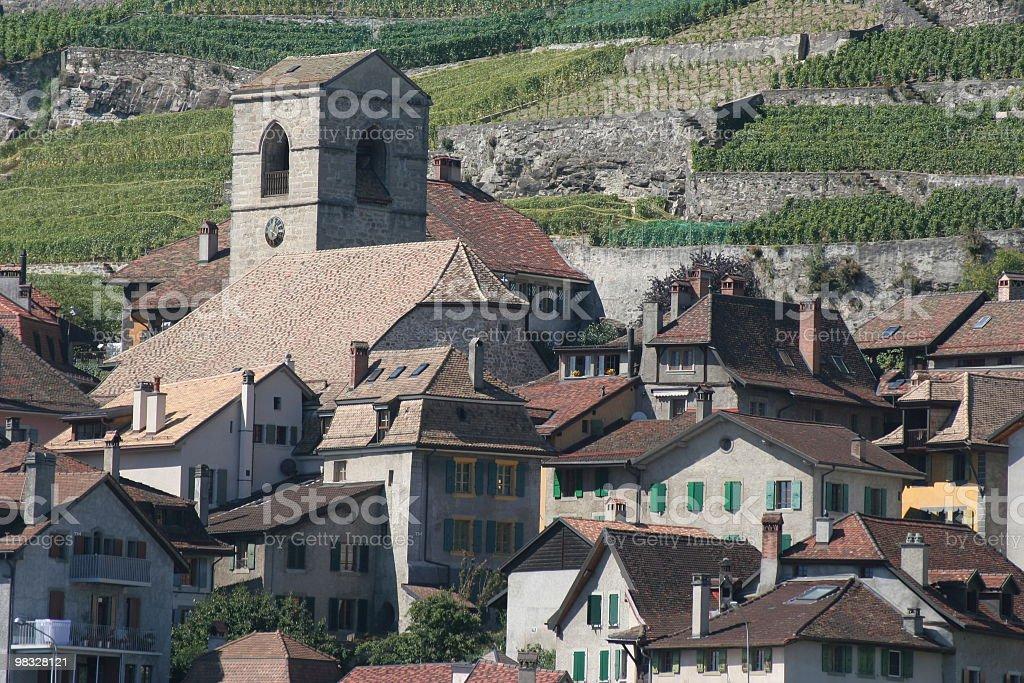 스위스 마을, 와이너리를 royalty-free 스톡 사진