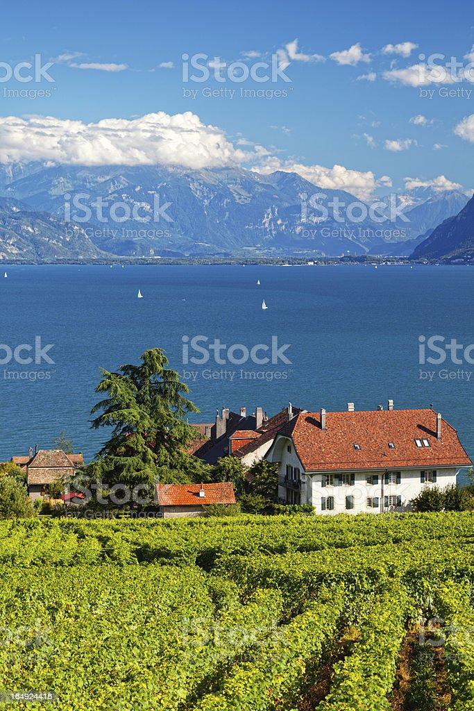 Swiss village royalty-free stock photo