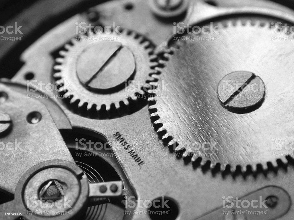 Swiss watch inside 1. stock photo