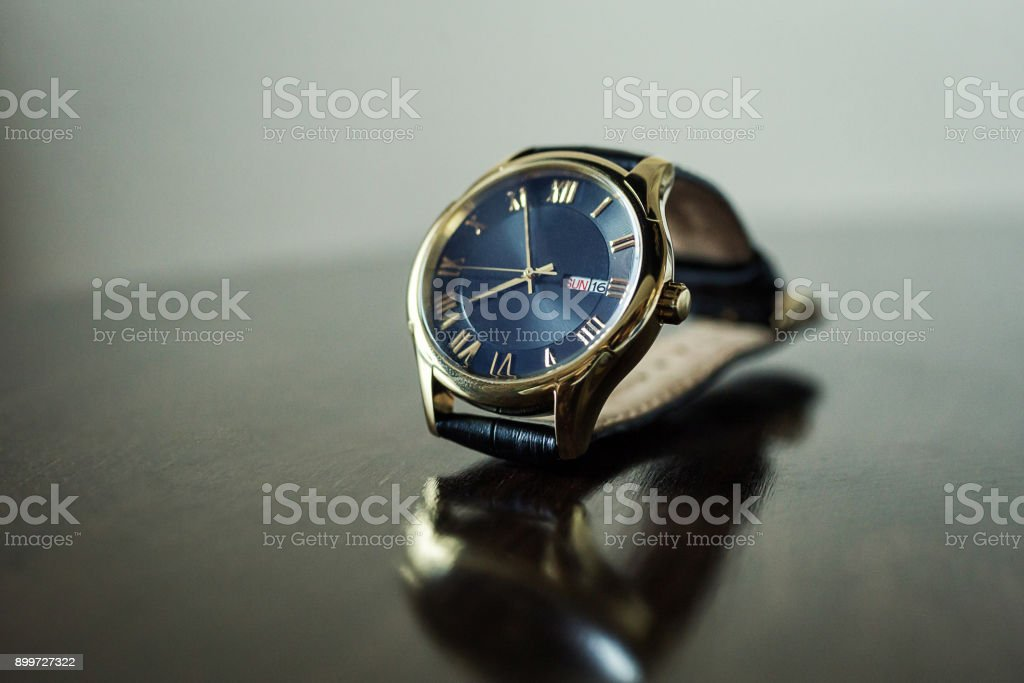 swiss watches are on the table stock photo