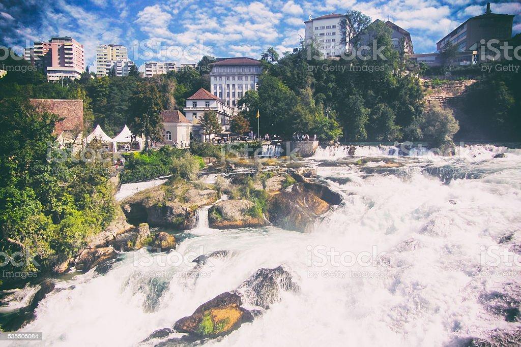 Swiss waterfalls stock photo