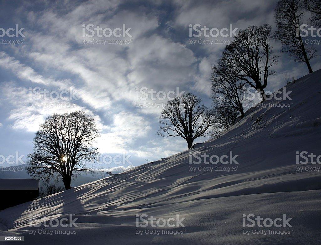 swiss winter sun royalty-free stock photo
