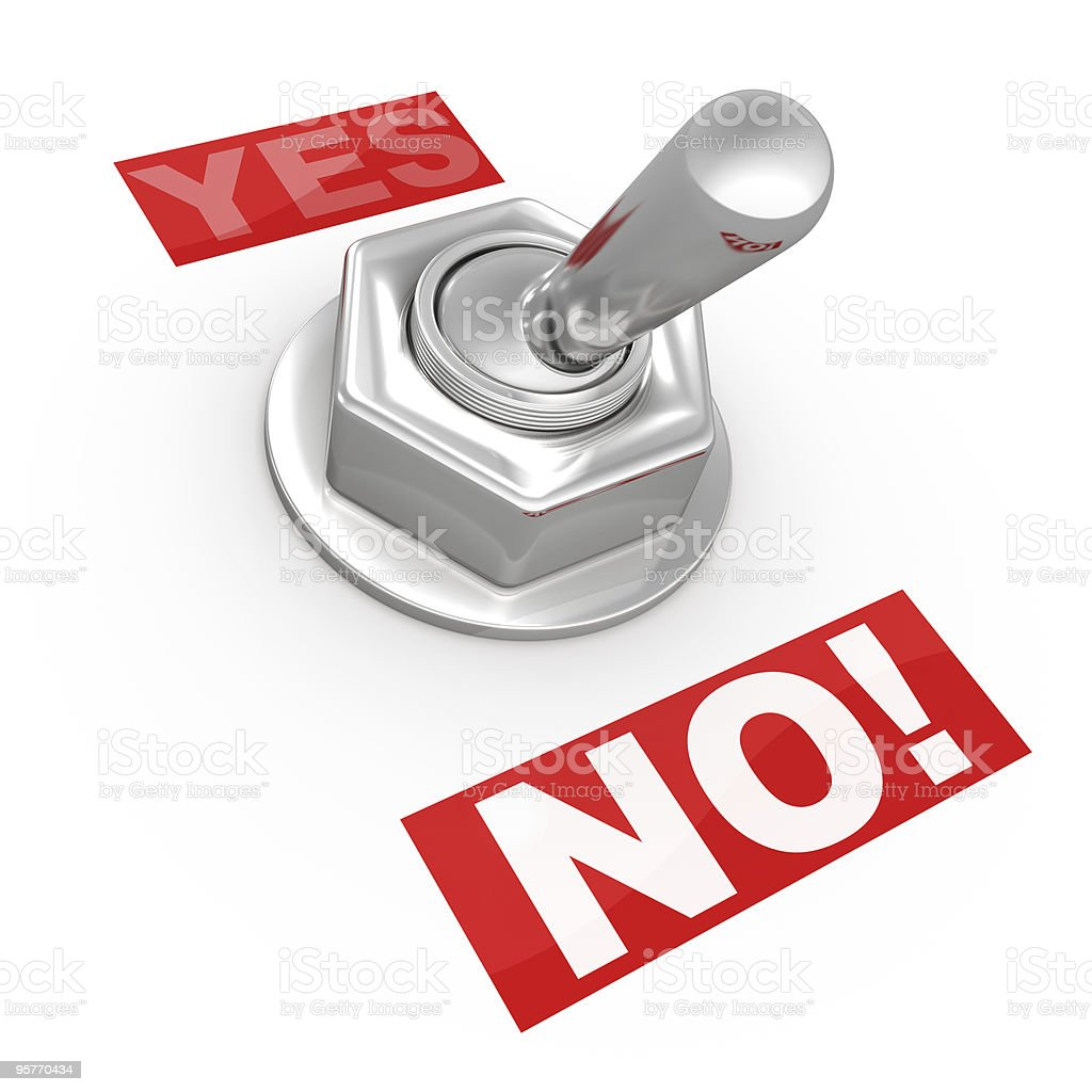 Switch Button - Yes or No! royalty-free stock photo