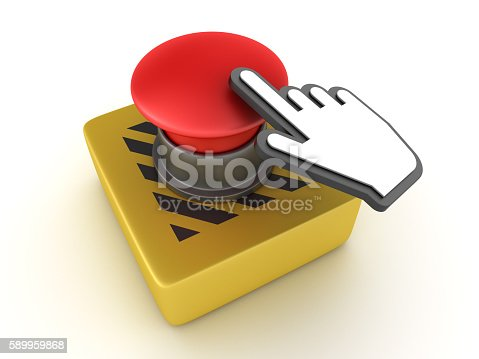 istock Switch Buttons Series: EMPTY with Hand Cursor 589959868