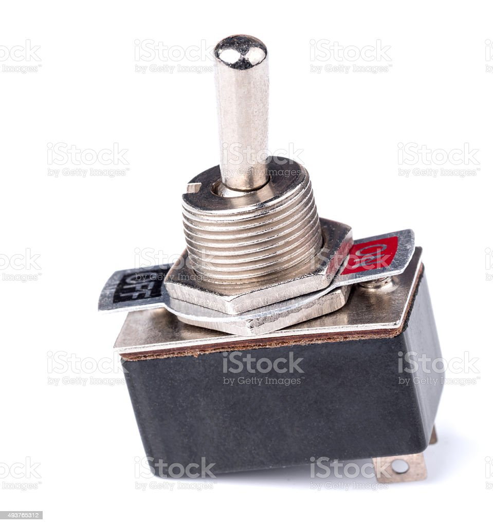 switch of electrical protection component stock photo