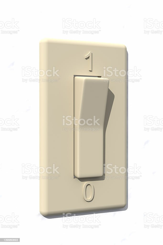 Switch - Off royalty-free stock photo